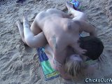 Fucked Hard On The Sands Of The Beach
